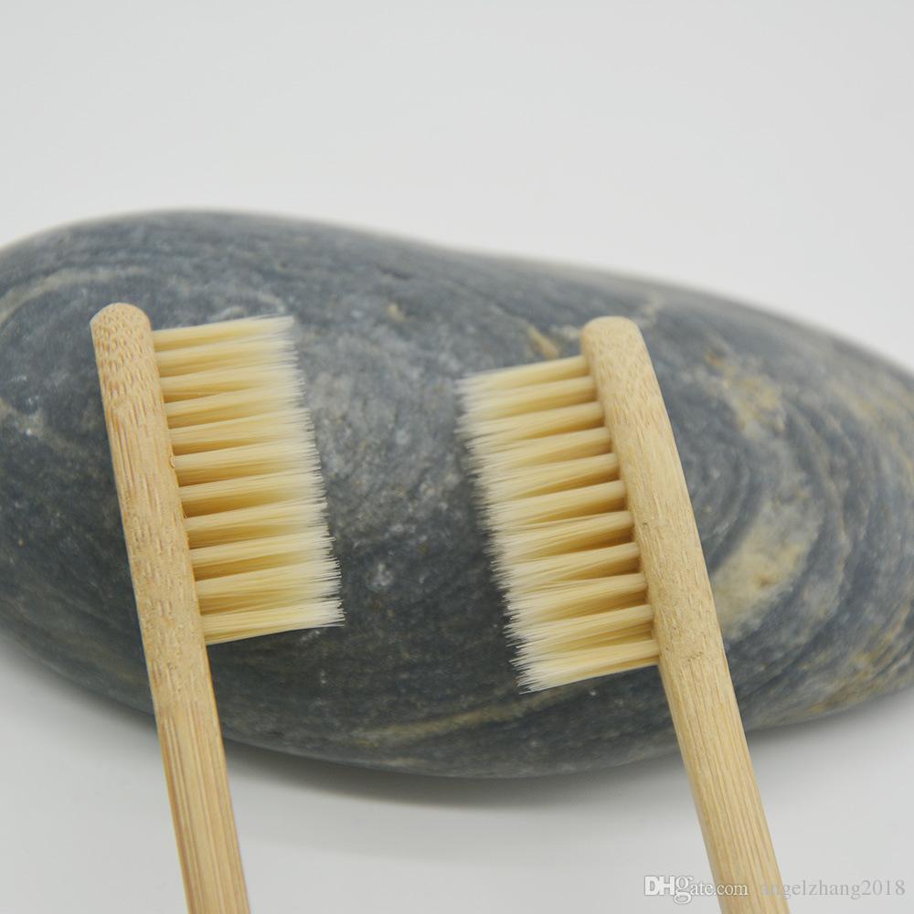 Cepillo de dientes de bambú Uso de hotel de alto grado Suministros de hotel Carbón Cepillo de dientes de bambú Productos de salud y protección ambiental