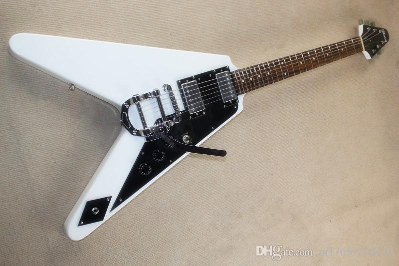 HOT V forma flyingV branco guitarra elétrica joystick rosewood fingerboard