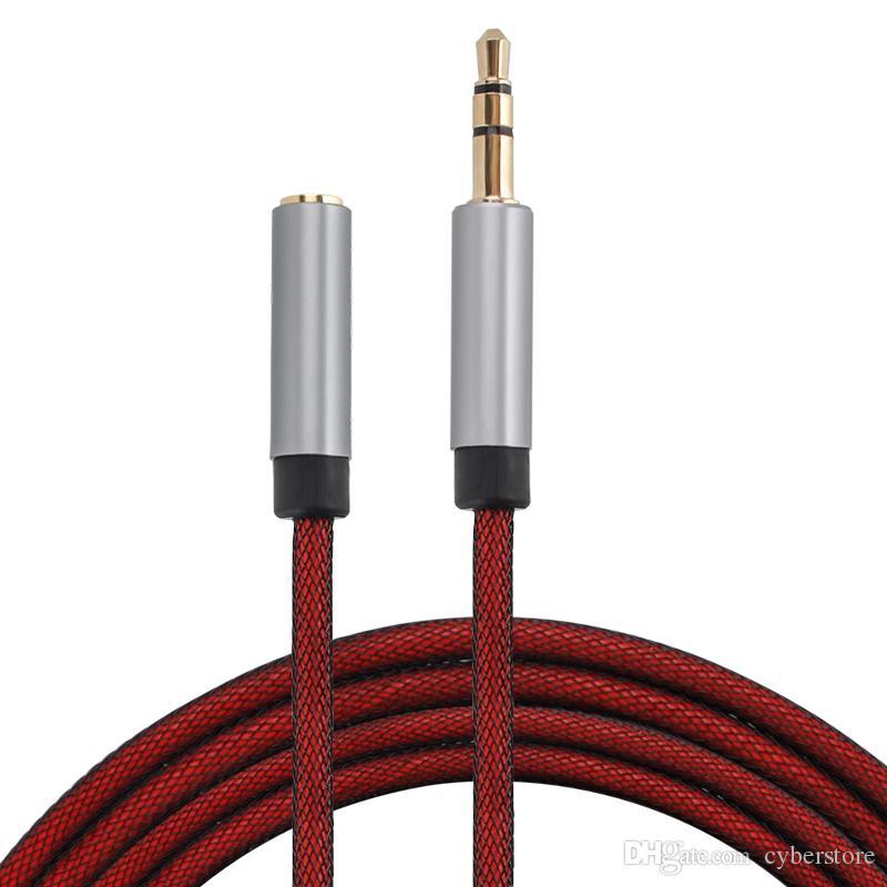 Maschio a femmina stereo da 3,5 mm di estensione audio cavo adattatore jack AUX cavo per i telefoni Cuffie Altoparlanti Pc Tablets Lettori MP3