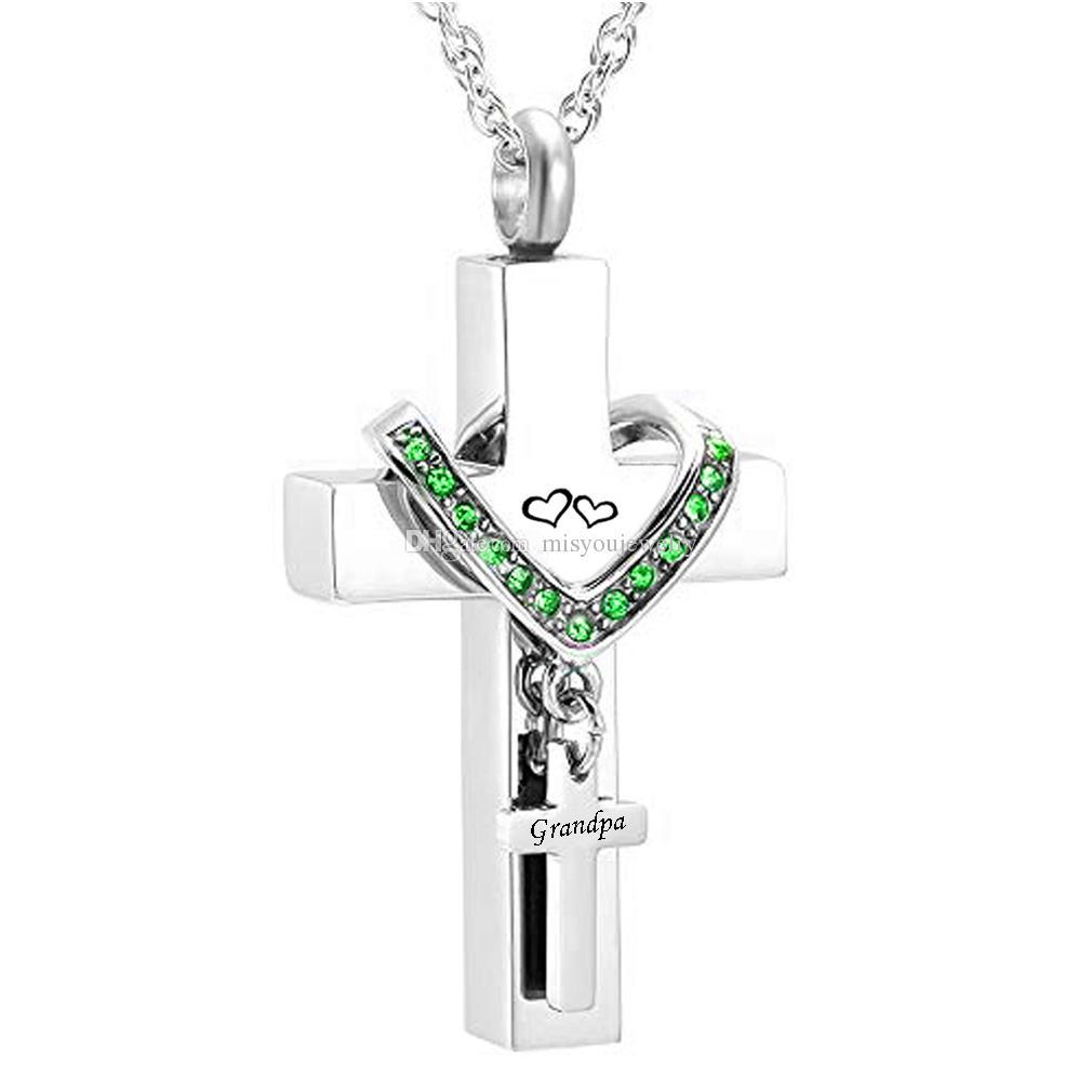 Unisex Halskette mit Urne Andenken Kremation Anhänger Schmuck Zubehör