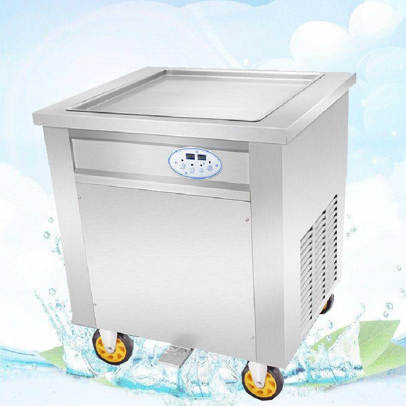 BEIJAMEI automatique commerciale frit machine à glaçons 110 v 220 v unique carrée frit glace crème rouleau machine prix