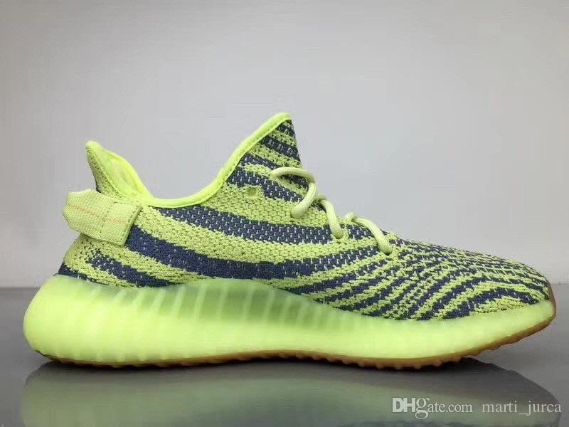Großhandel Adidas Yeezy 350 V2 Boost Yeezys 2018 SPLY 350 V2 V1 Blaue Tönung Zebra Boost Beluga 2.0 Bred Creme Weiß Kupfer Laufschuhe YEEΖY A1685938