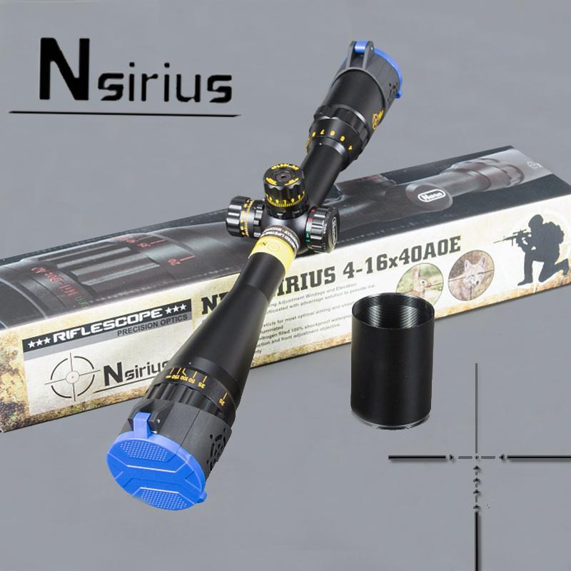 NSIRIUS Gold Tactical 4-16X40 AO Прицел оптический прицел Красный Зеленый llluminate Crosshair Охотничий прицел