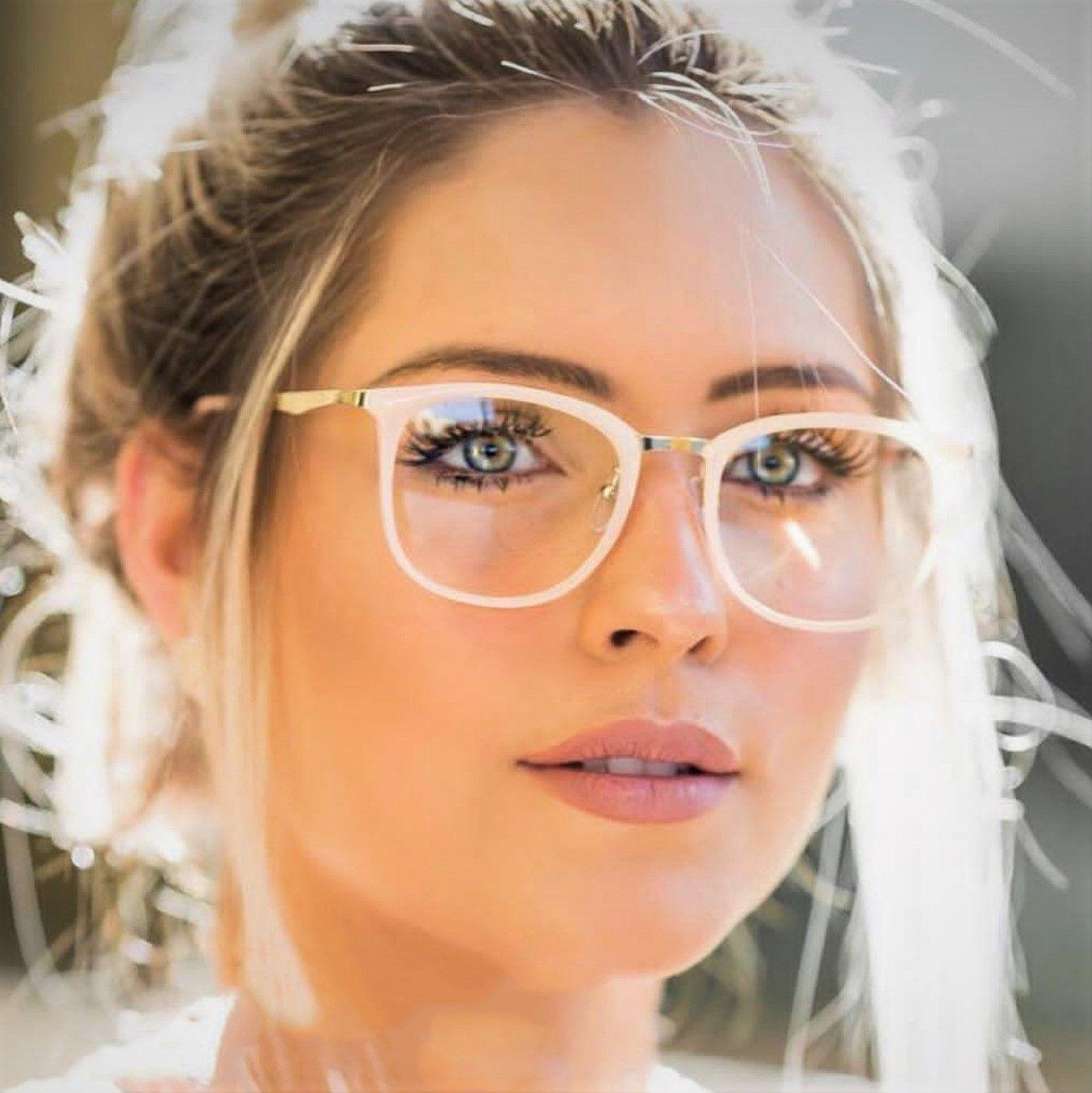 CCSPACE Señoras Gafas Cuadradas Marcos Mujeres Metal Piernas Diseñador de la Marca Gafas Ópticas Gafas de Moda Gafas de Ordenador 45466