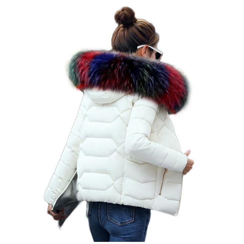 Großhandel SMFOLW Winter Jacke Frauen Winter Warme Daunenjacke Frauen Kurze Absatz Schlanke Kunstpelzkragen Große Yards Frauen Baumwolle Von Z02a,