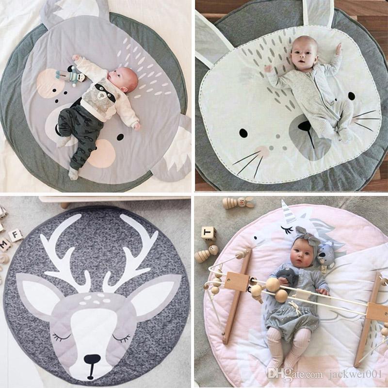 90 cm runde baby playmat kinderzimmer teppich kriechende matte tipi fußmatten weiche spiel teppiche kriechende kinderzimmer dekorative carpet pads