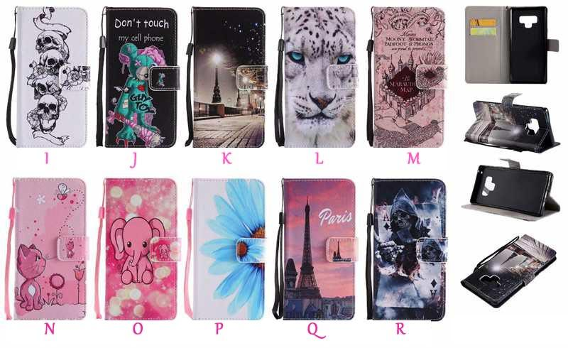 Caja de la carpeta de cuero para Iphone 11 Pro Max XR XS MAX 8 7 6 Leopard París Skull Do not Touch My flor de mariposa del teléfono de la historieta cubierta del soporte