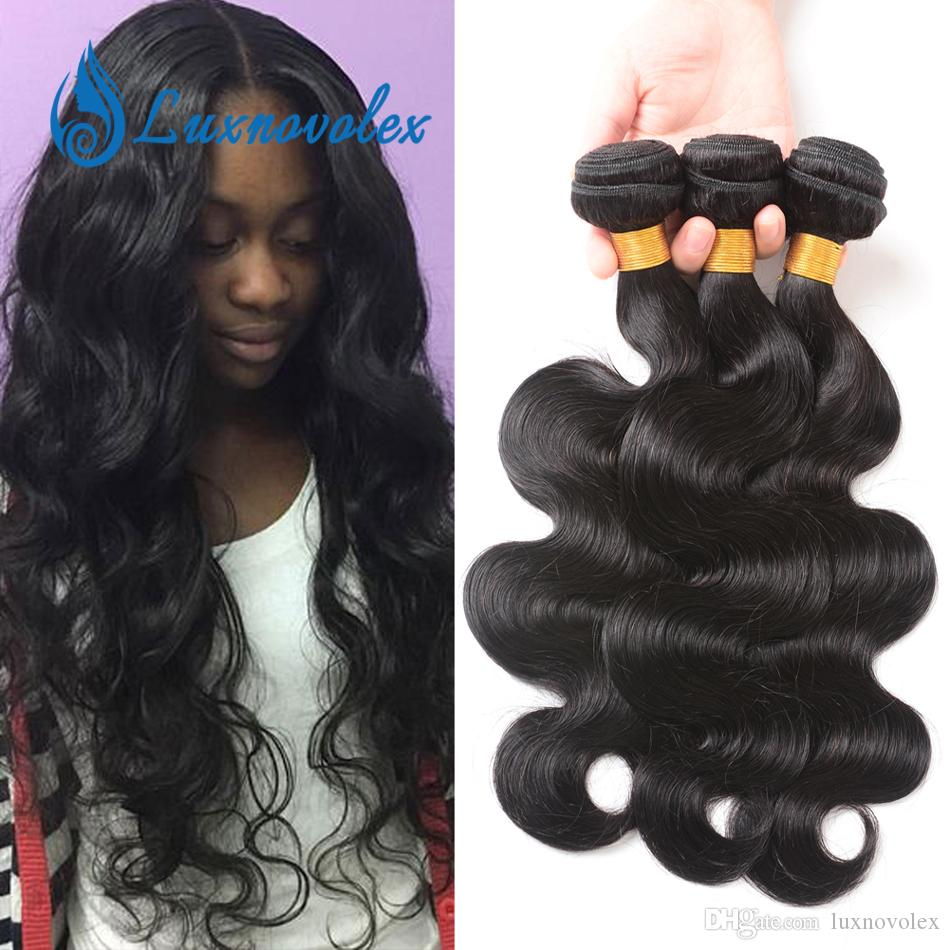 Brazilian Body Wave Virgin Hair 3 Bundles Unprocessed Brazilian Human Hair Weave Bundles Body Wave Hair Extensions Natural Color Wholesale