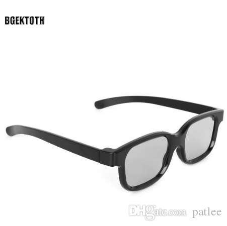BGEKTOTH 2017 Yüksek Kalite Için Polarize Pasif 3D Gözlük Siyah H3 TV Gerçek D 3D Sinemalar # 1