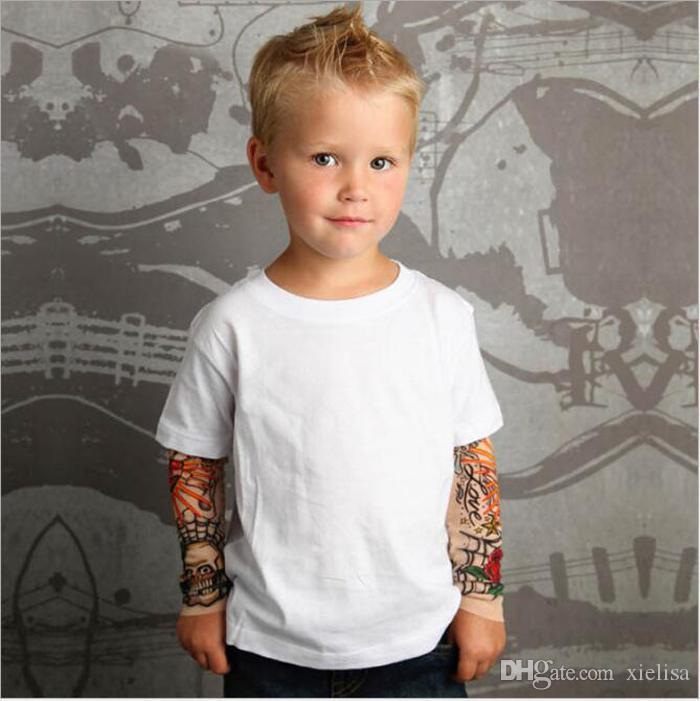 Heißer verkauf Baby Jungen Mädchen T shirts Tattoo Ärmel Kinder Mesh Langarm Baumwolle Tops Tees Kinder Kleinkinder Shirts Kleidung