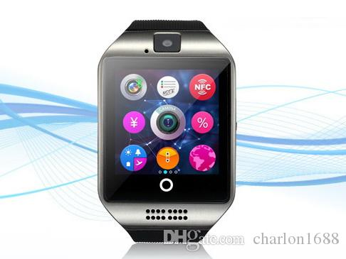 Q18 Bluetooth smart watch android smartwatch for iPhone Samsung smart phone with camera dial call answer Passometer