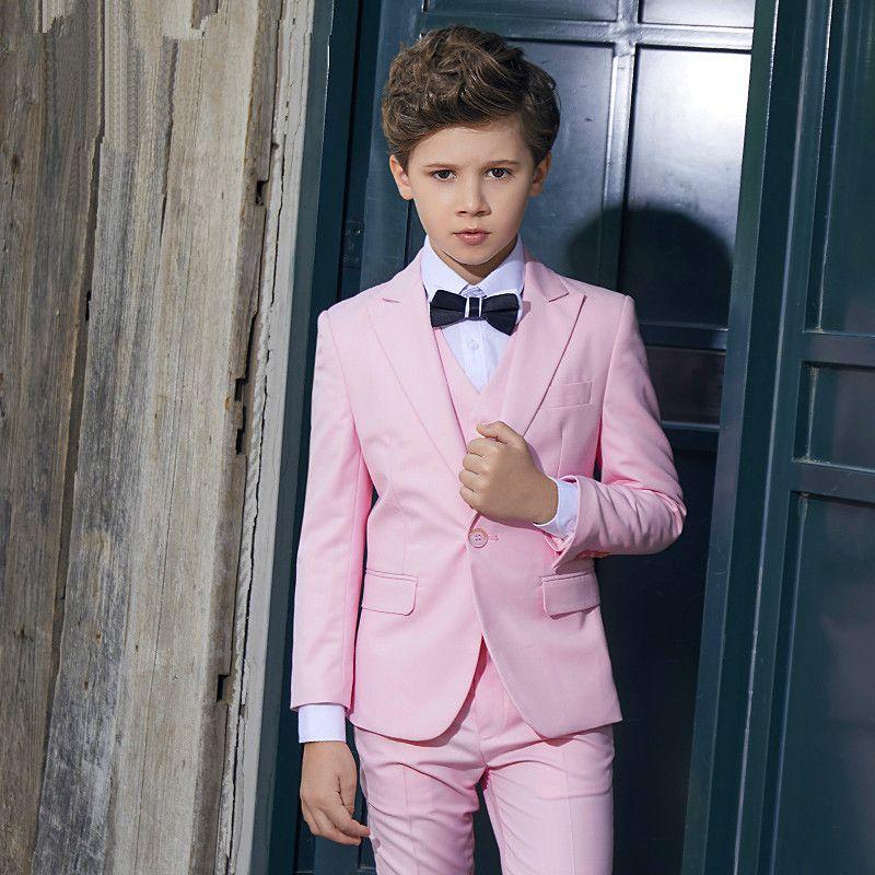 Yeni kalite erkek takım elbise üç parçalı takım (ceket + pantolon + yelek) çocuk mezuniyet töreni resmi elbise destek özel