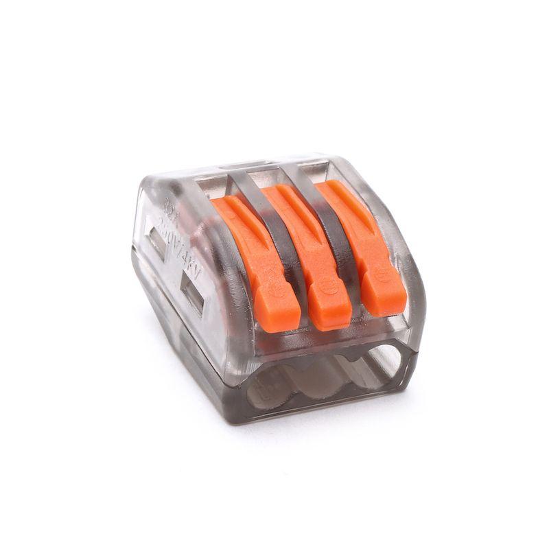 universal compact wire wiring connector transparent DE Neu 10Pcs 222-413 PCT213