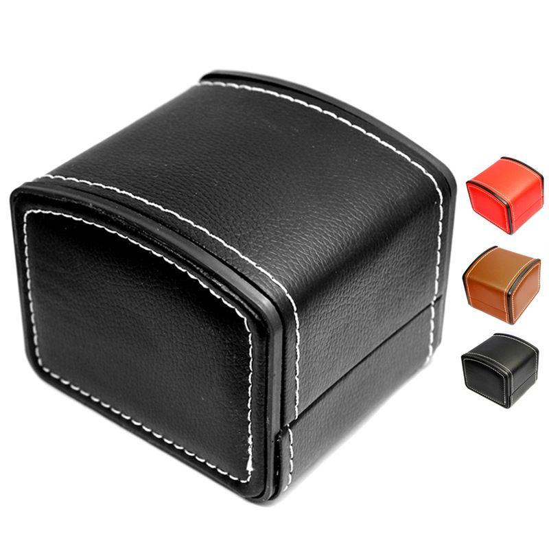 패션 시계 상자 가짜 가죽 광장 보석 시계 케이스 베개 쿠션 무료 배송과 선물 상자를 표시