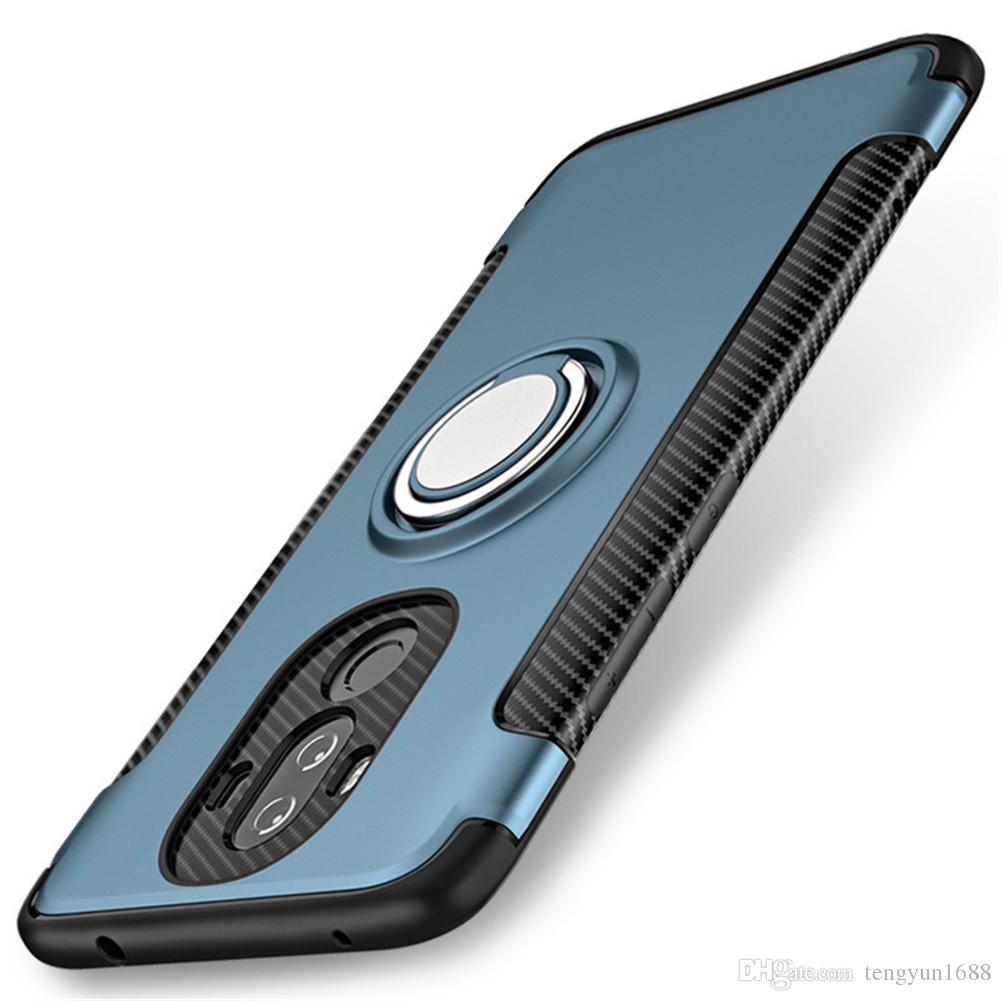 Для HUAWEI mate 9 Case телефон защитная крышка с Kick стенд с магнитным автомобильный держатель с ручкой вращающийся Кольцо держатель стенд