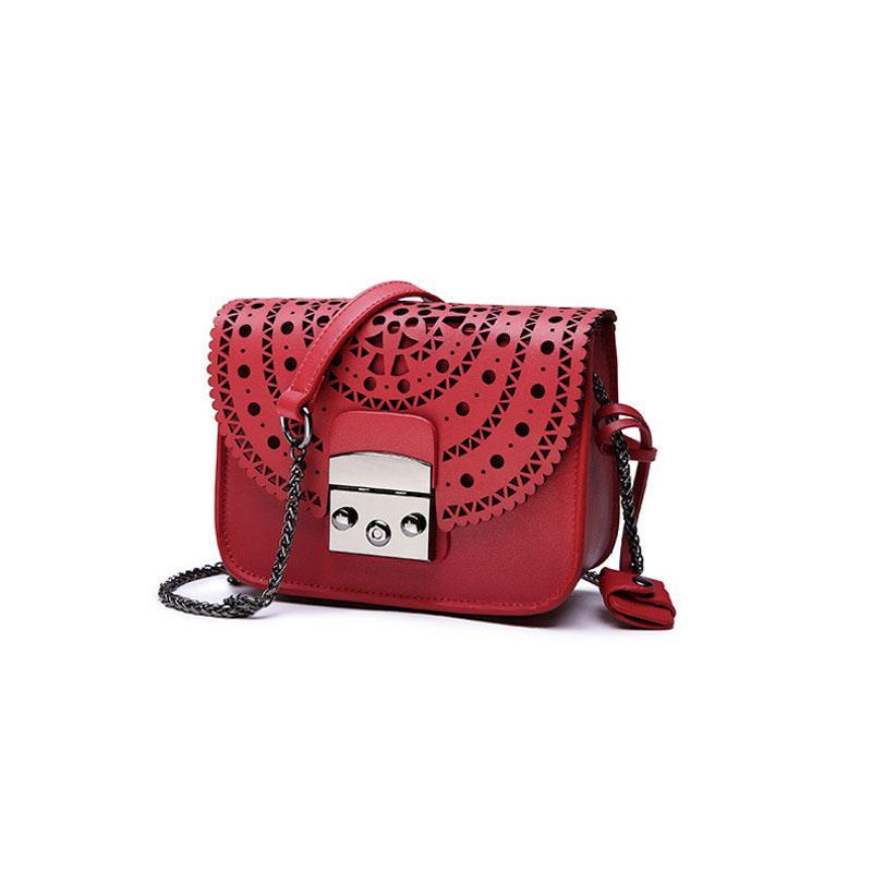 Mode Frauen Kleine Taschen Aushöhlen Leder Frauen Umhängetasche Berühmte Marke Damen Messenger Schultertasche Clutch Geldbörse Handtasche