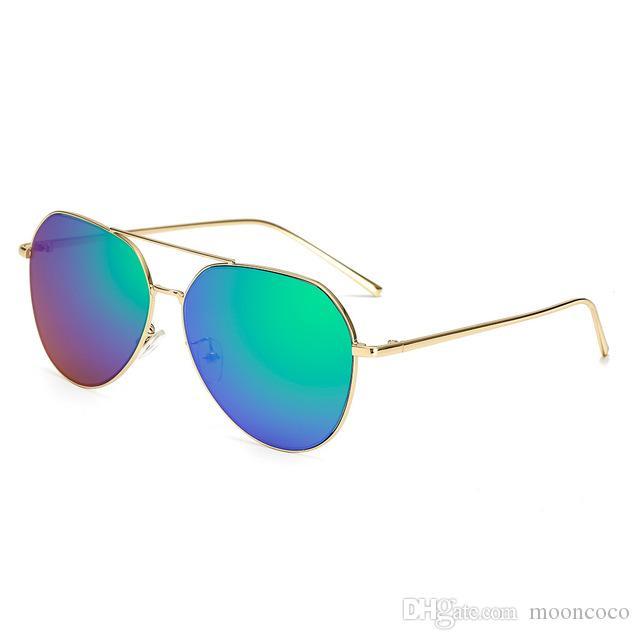Lujo sin montura gafas de sol de gran tamaño de las mujeres diseñador de la marca ronda vintage mujer gafas de sol para mujer tonos UV400 gafas de sol