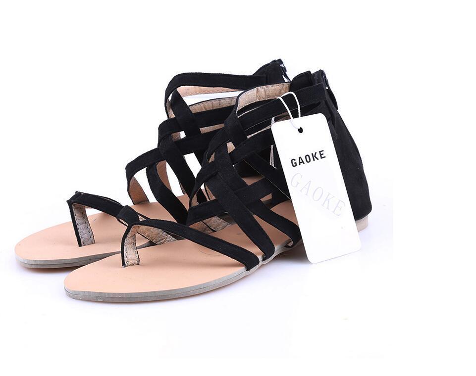 Bolsa 2018 Para Romano Verano Mujer Nuevos Cremallera Con Gladiador Compre Planas De Sandalias Zapatos Casuales Estilo E9IWYeDH2