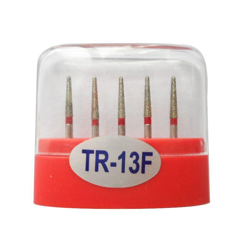 1 paquete (5 piezas) TR-13F Dental Diamond Burs Medium FG 1.6M para pieza de mano de alta velocidad dental Muchos modelos disponibles