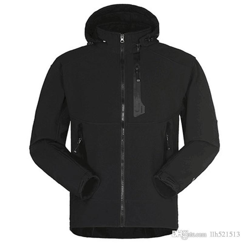 Free shipping Waterproof Softshell Jacket Men Fishing Climbing Windproof Rain Coat Fleece Trekking Hiking Jackets,size S M L XL 2XL 3XL