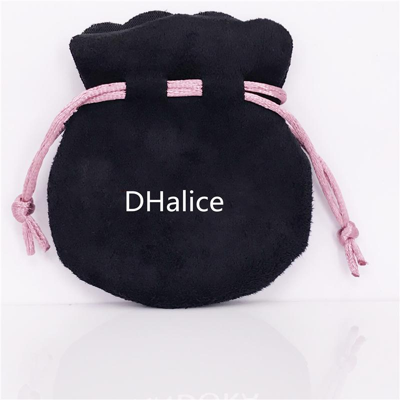 Оптовая продажа ювелирных изделий Розовая лента Черный Бархат сумки Сумки костюм для европейского бренда бусины и подвески ювелирные изделия