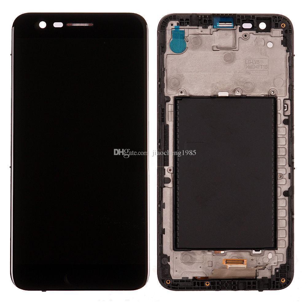 Панель экрана дисплея ЖК-дисплея для LG K10 K20 PLUS X400 M250N с запасными частями рамки Черный белый