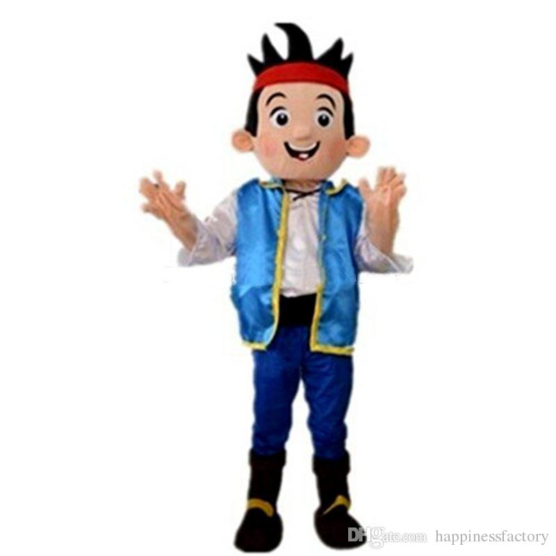 2018 Discount factory sale Jack boy Mascot Costumes Cartoon Character Adult Sz Real Picture