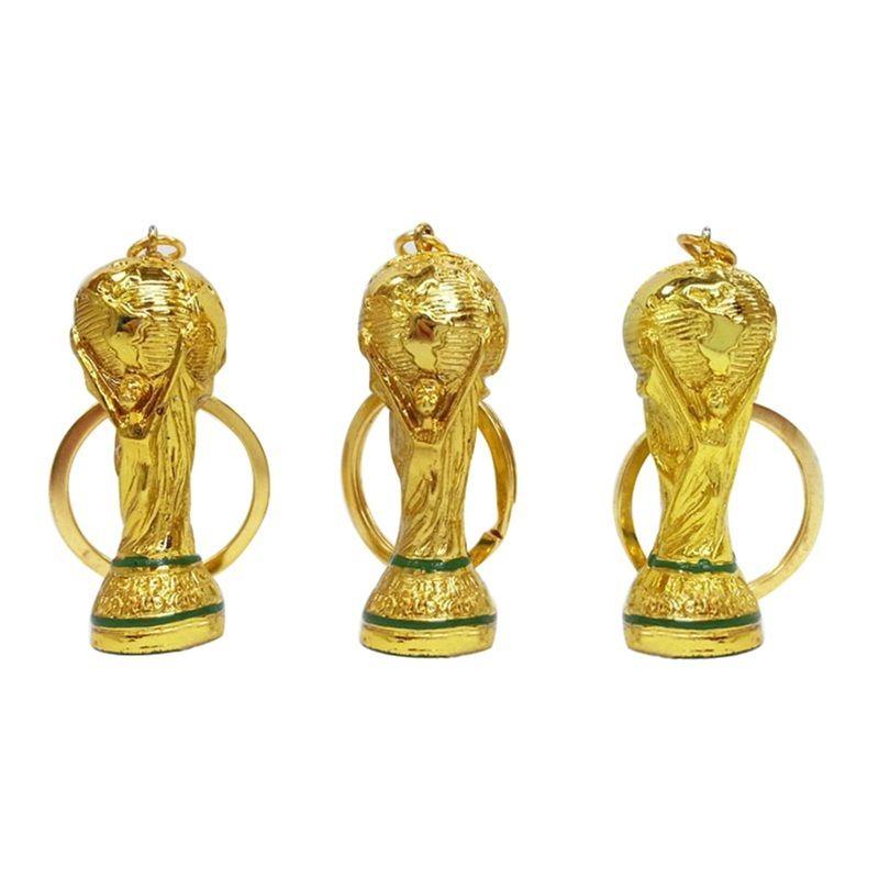 2018 Russia Coppa del Mondo Portachiavi Hercules Portachiavi in metallo color oro Coppa europea Coppa portachiavi per i fan