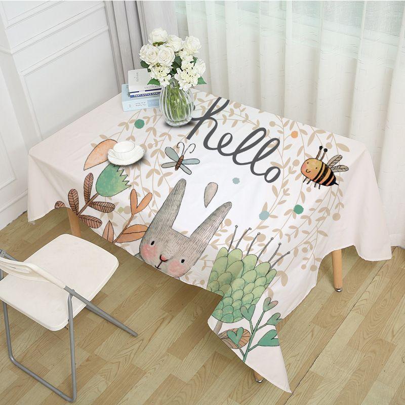 Acheter Nappe De Dessin Anime Mignon Lapin Salon Table Basse Nappe