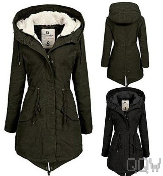 finest selection 0bde0 fa3e8 Großhandel Stilvolle Winter Frauen Lange Dicke Hoodie Jacke Mantel Fell  Baumwolle Futter Parka Damen Winterparka Outwear Von Aftertheafterparty, ...