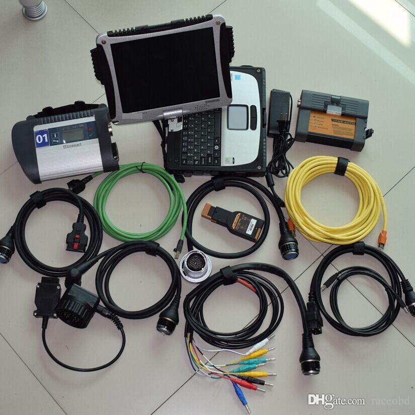 Super 2in1 MB Star C4 per strumento diagnostico BMW ICOM A2 con il nuovo HDD da 1 TB installato in laptop CF19 Pronto per l'uso Windows7