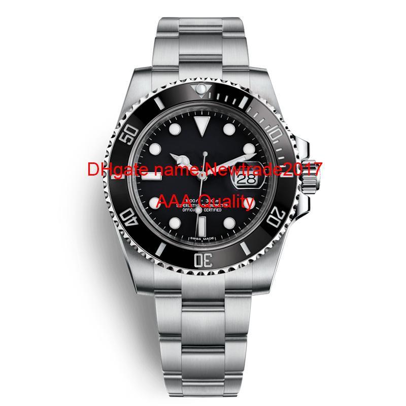 نوعية فاخرة للرجال ساعات 2813 الميكانيكية التلقائية حركة الفولاذ المقاوم للصدأ الحافة السيراميك الساعات ماء غواص ساعة اليد
