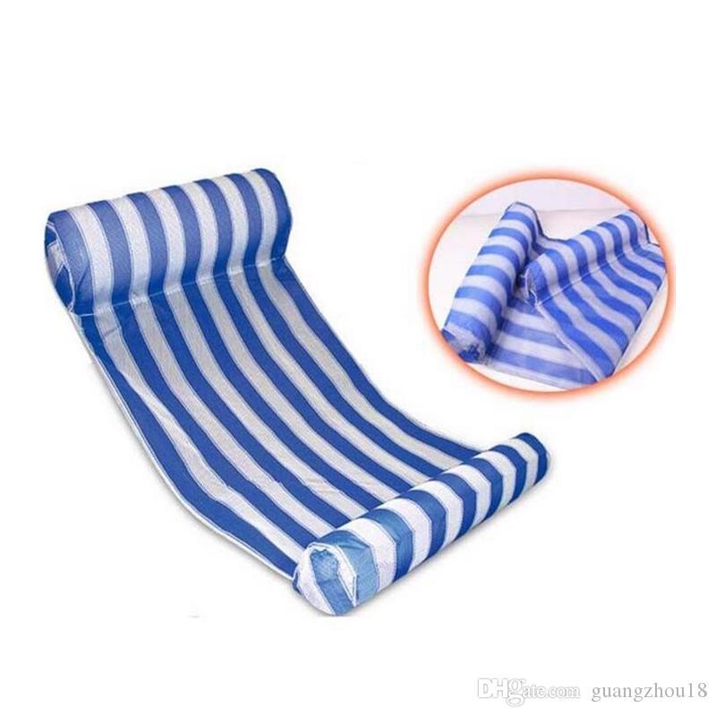 2018 3 Farben Sommer Schwimmbad Aufblasbare Schwimmende Wasser Hängematte Lounge Bett Stuhl Sommer Aufblasbare Pool Float Schwimmbett