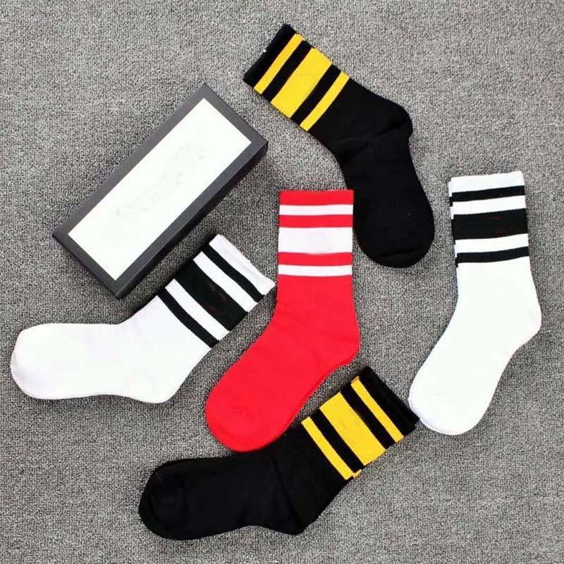 5 pares / set Longo Socks Homens e Mulheres Winter Sexy Socks Street Style Aqueça Stripe Mulher Meias Presente de Natal de alta qualidade