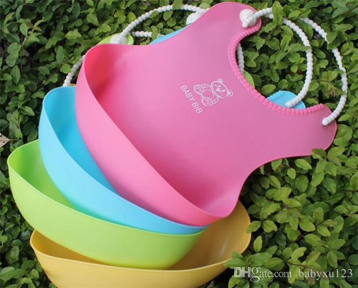 100pcs Baby Infants Kids Cute Bibs Lunch Bibs Newborn Children Waterproof Towel Washable Feeding Silicone Burp Y273