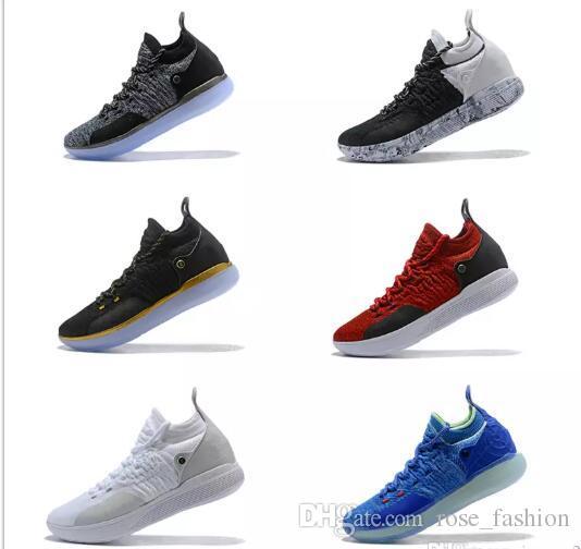 Chaussure de basket-ball Elite KD 11 EP pas cher KD 11s Hommes Multicolore Confiture de Pêche Hommes Baskets Doernbecher Kevin Durant