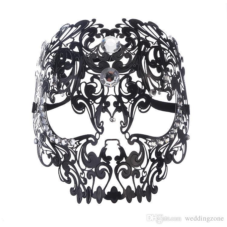 Metal Masquerade masks Elegant Metal Laser Cut Venetian Halloween Ball Masquerade mask For Party Cosplay Decortion