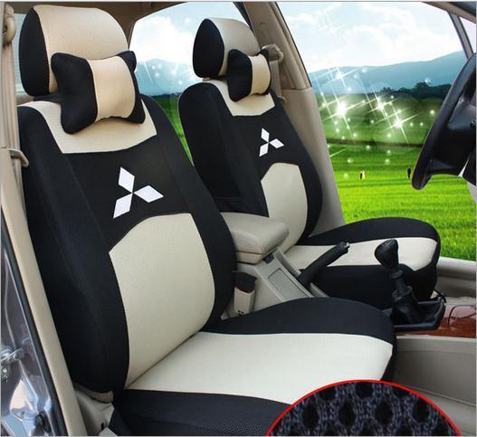 Black Car Seat Cover for Mitsubishi Lancer All Seasons Full Set Cushion Covers Auto Interior Acc
