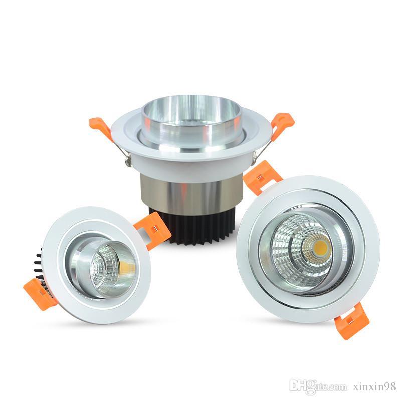 Super helle 7W / 10W / 15W Dimmbare COB LED Strahler abblendender Fixture vertiefte Decken-unten Lichter Warm / Kalt / Natural White