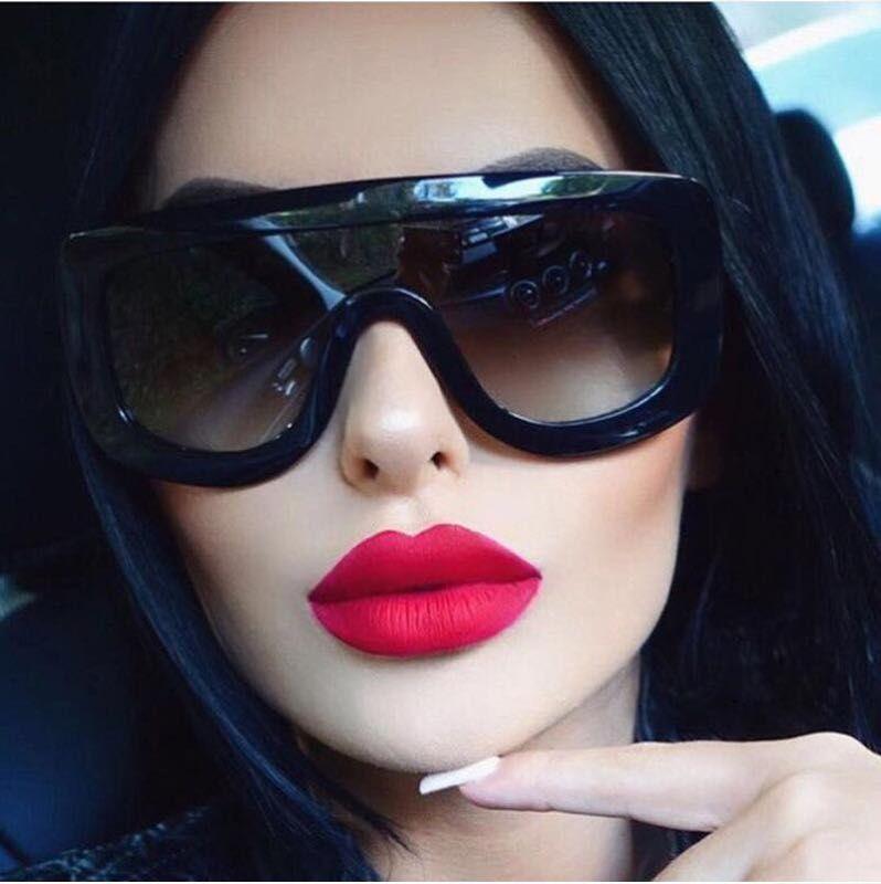 2019 Big Goggles New Fashion Sunglasses For Women Cheap Eyewear UV400 Cool Black Frame Wholesale Sun Glasses Shop