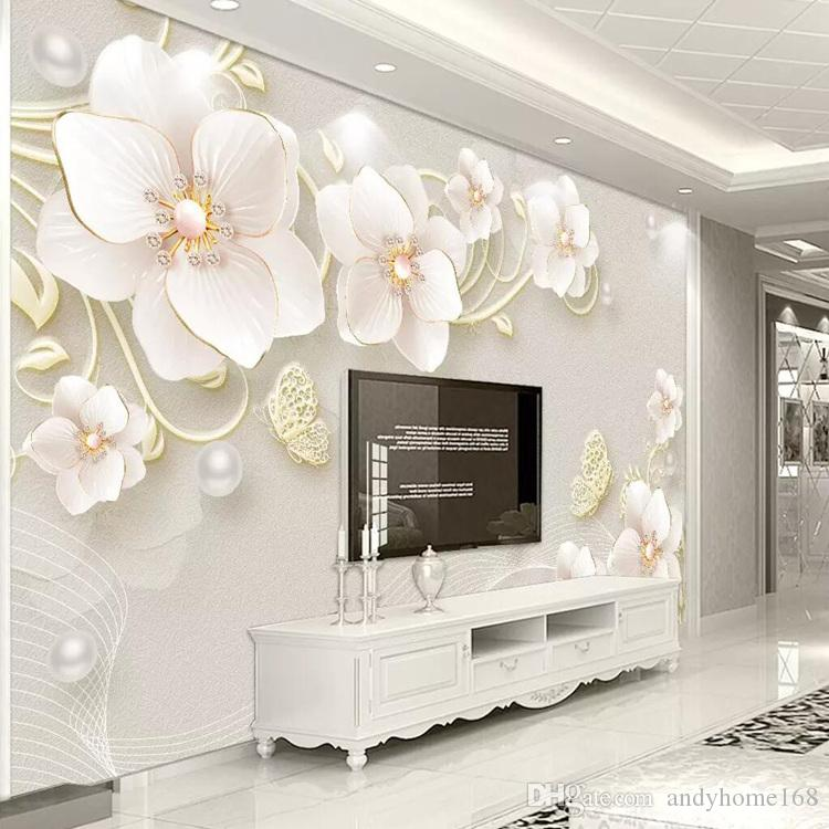 3d Tv Background Wall Paper Simple Modern Living Room Tv Wall Painting Stereoscopic Film Bedroom Seamless Wallpaper Women Wallpapers Xmas Wallpaper From Andyhome168 17 14 Dhgate Com