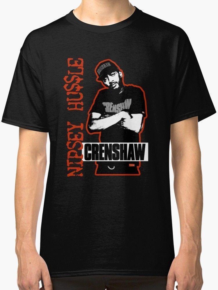 NEW NIPSEY HUSSLE CHRENSHAW MEN/'S T SHIRT BLACK S-5XL