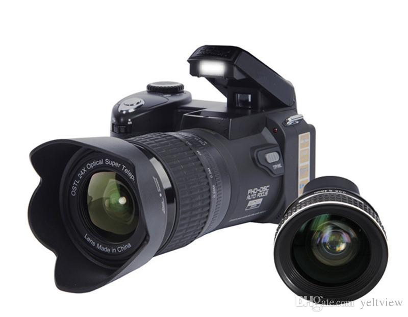 PROTAX POLO D7100 Dijital Kamera 33MP 24X optik zoom Otomatik Odaklama Profesyonel DSLR Video Kamera HD1080P Yükseltilmiş Kamera + 3 Lens