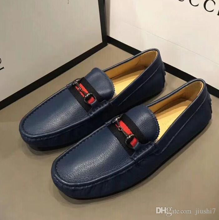 [Orijinal kutu] Moda Marka görünüm spor ayakkabı Erkek Gommino Elbise Casual Parti Loafer'lar Ayakkabı Cowskin Tek Ayakkabı Düğün Üzerinde Kayma G6.48