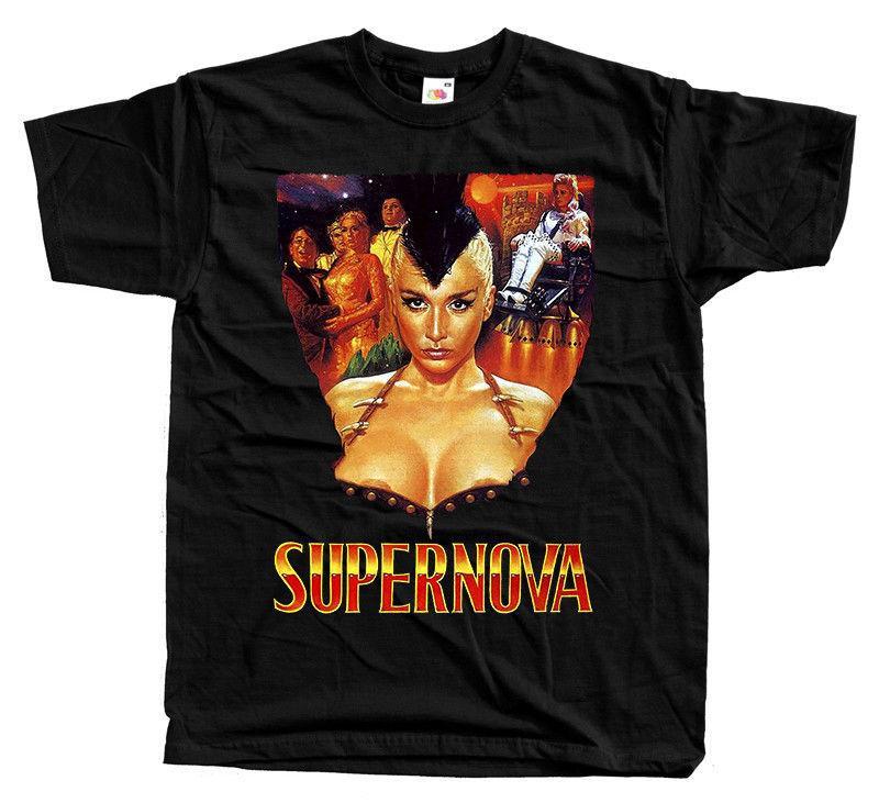 Supernova, locandina del film, T SHIRT NERO tutte le taglie dalla S alla 5XL Tee Shirt Mens 2018 Nuove T-shirt da stampa Vendita calda 2018 Fashion