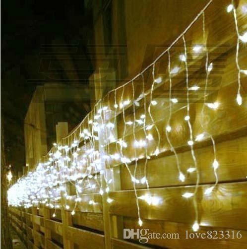8 متر × 0.5 متر 192 led الستار جليد سلسلة الأنوار السنة الجديدة حفل زفاف جارلاند أدى ضوء للزينة عيد الميلاد في الهواء الطلق