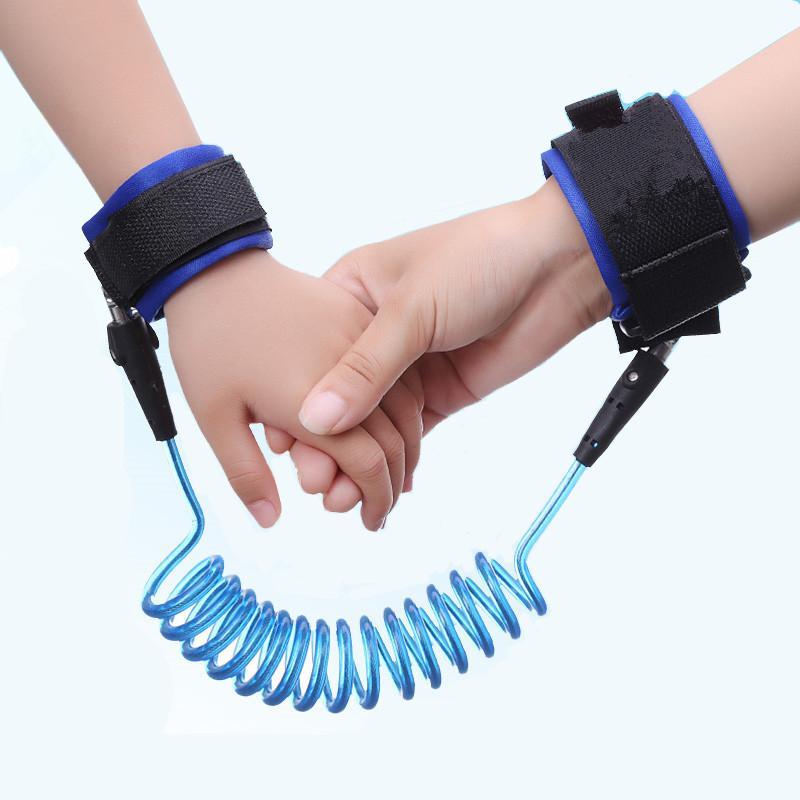 1,5 metros Criança anti-perdido com corda de tração bebê criança segura anti-perdidos pulseira crianças cinto anti-lost
