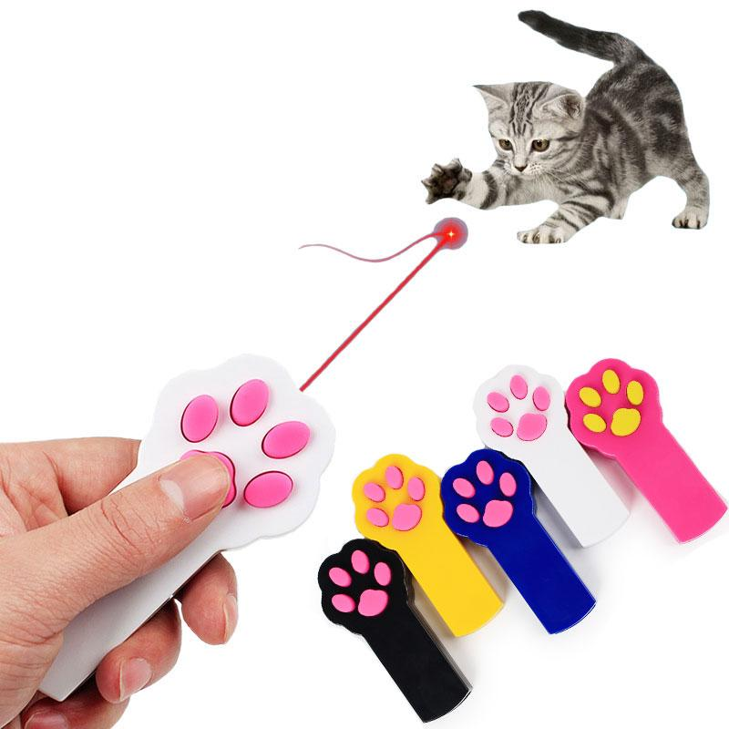 Nueva divertida mascota gato perro láser juguetes interactivo automático gato garra haz rojo puntero láser ejercicio juguete perro gato juguete de diversión
