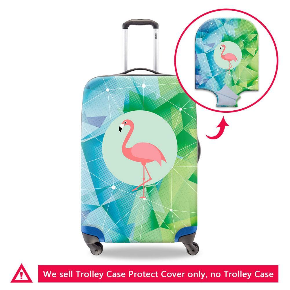 Cubiertas impermeables Accesorios de viaje Animal flamenco equipaje de protección para el recorrido del adolescente a prueba de polvo de la cubierta para el bolso de la maleta Contraportada casos