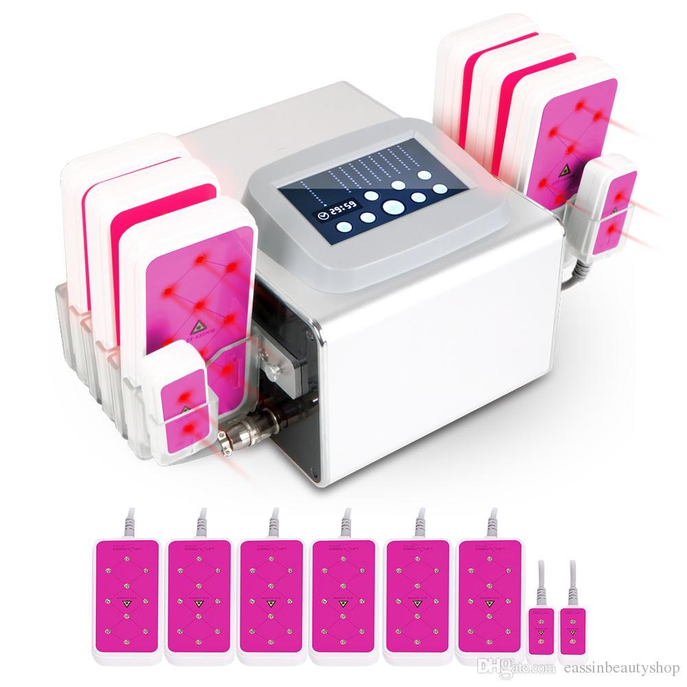 Новый 635nm-650NM Lipo лазер 5mw липолиз Липо жирное тело тонкий похудение потеря веса 6big 2 небольшие колодки 320 МВт машина